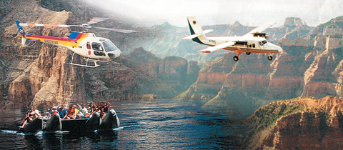 West Rim Airplane, Helicopter & Boat Tour